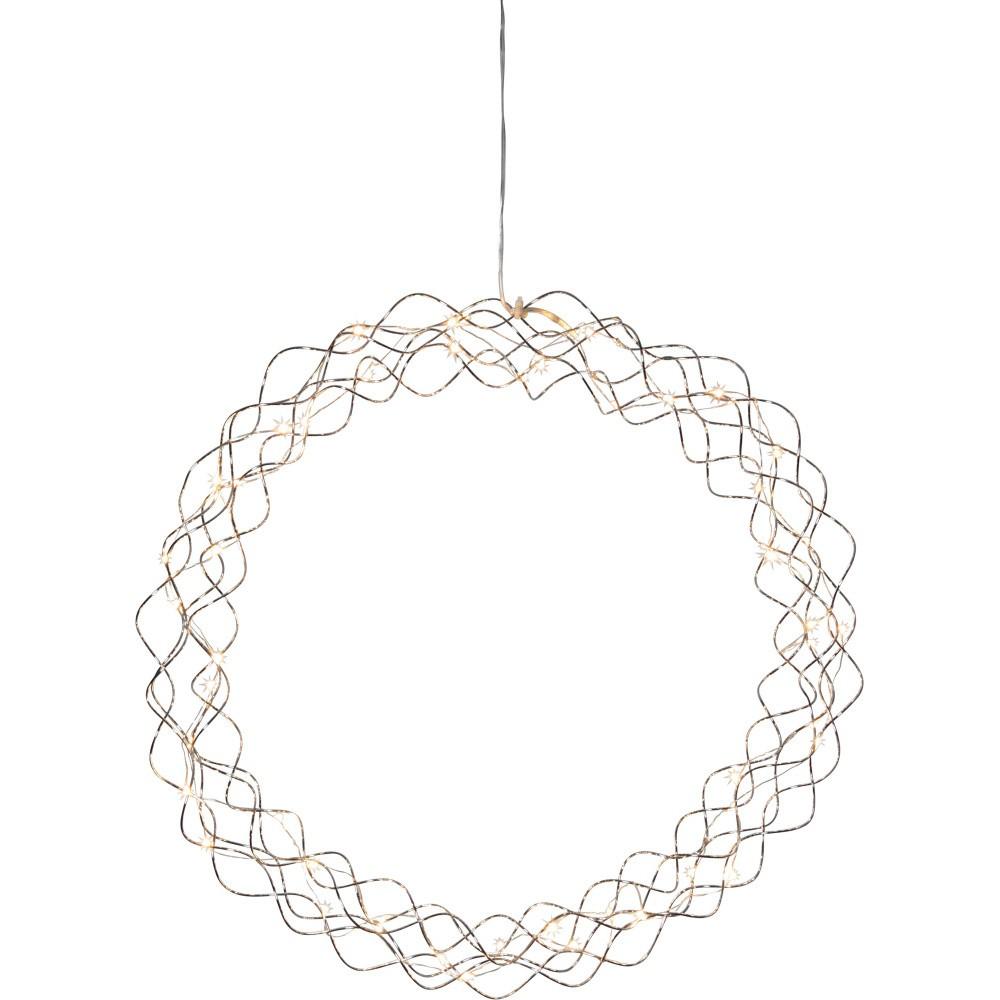 Závesná LED dekorácia Best Season Curly Dewdrops, Ø 45 cm