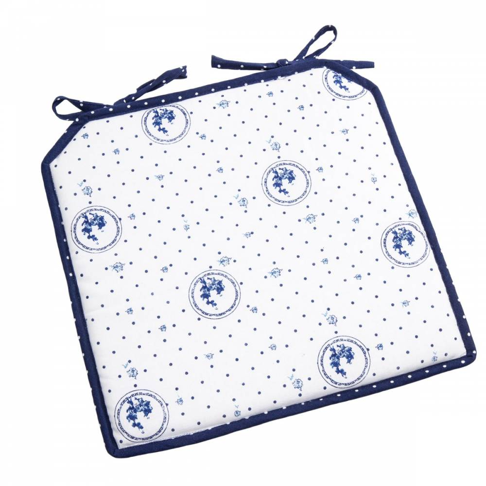 Trade Concept Sedák Elegant bodka modrá, 40 x 40 cm