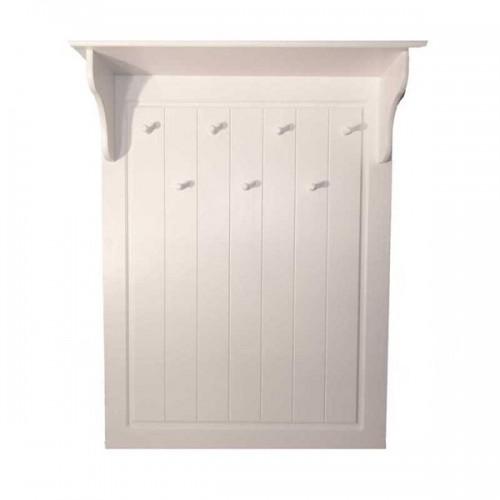 Biely nábytok Vešiaková stena Nicea Classic s policou, biela, masív, borovica