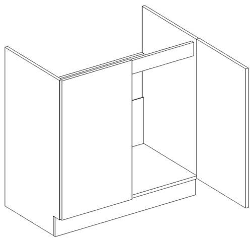 D80ZL dolná skrinka pod drez vhodná ku kuchyni DARK, LATTE