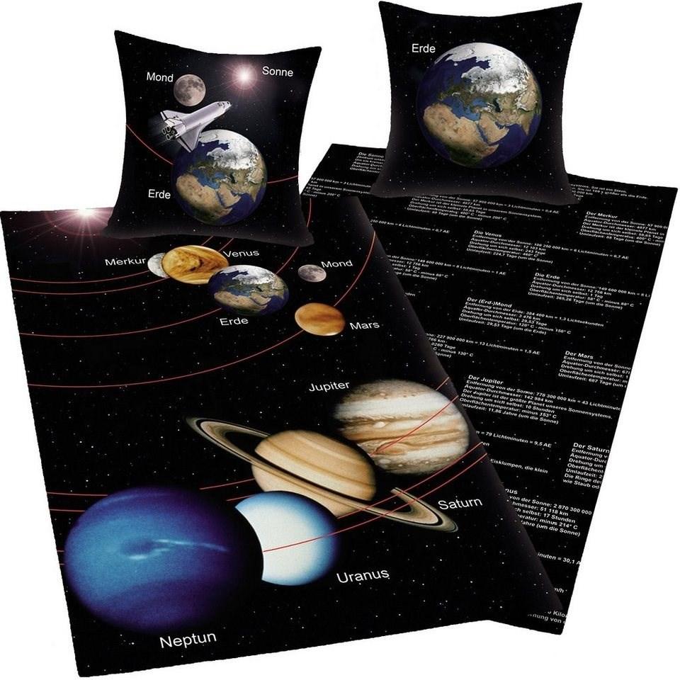 Herding Bavlnené obliečky Vesmír, 140 x 200 cm, 70 x 90 cm