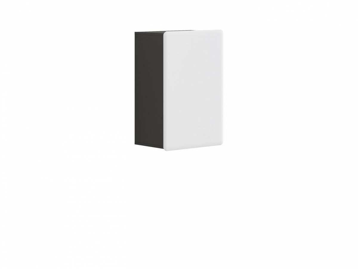 Skrinka na stenu Possi Light SFW1D/8/5 (sivý wolfram + lesk biely)