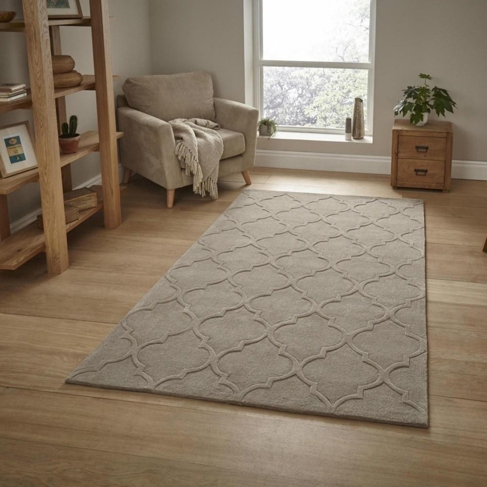 Béžový koberec Think Rugs Hong Kong, 120x170cm