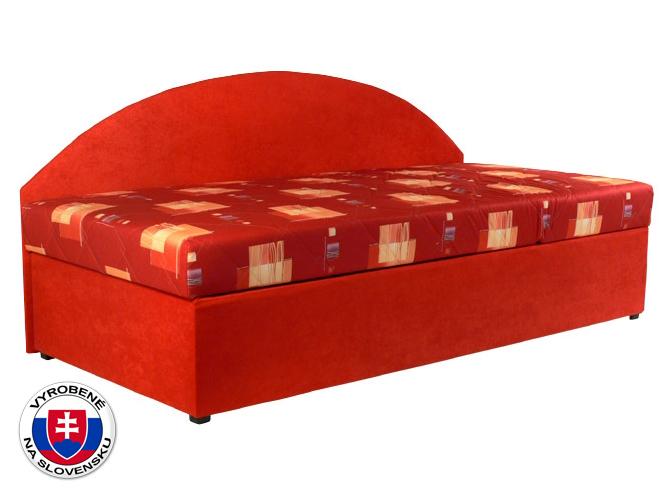 Jednolôžková posteľ (váľanda) 90 cm Kavy (so sendvičovým matracom) (P)