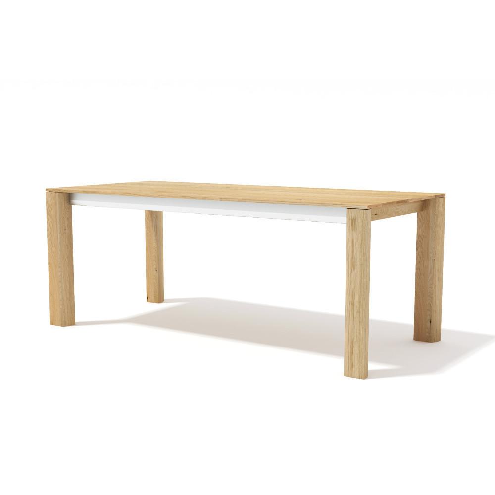 Rozkladací jedálenský stôl z masívneho dubového dreva Javorina Exte, 240 + 90 cm