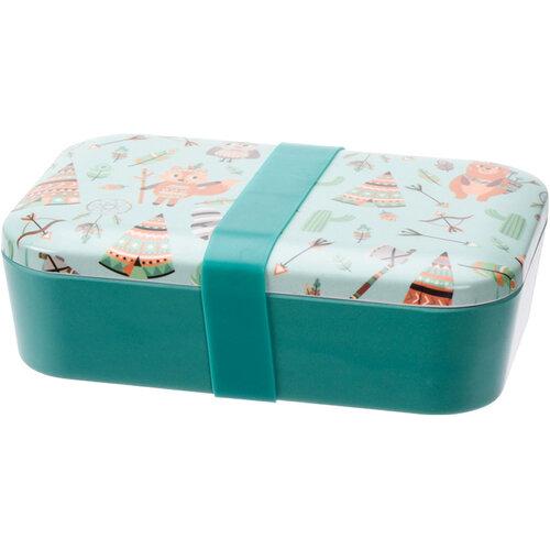 Desiatový box Indian, 19 x 13 x 5,5 cm, zelená