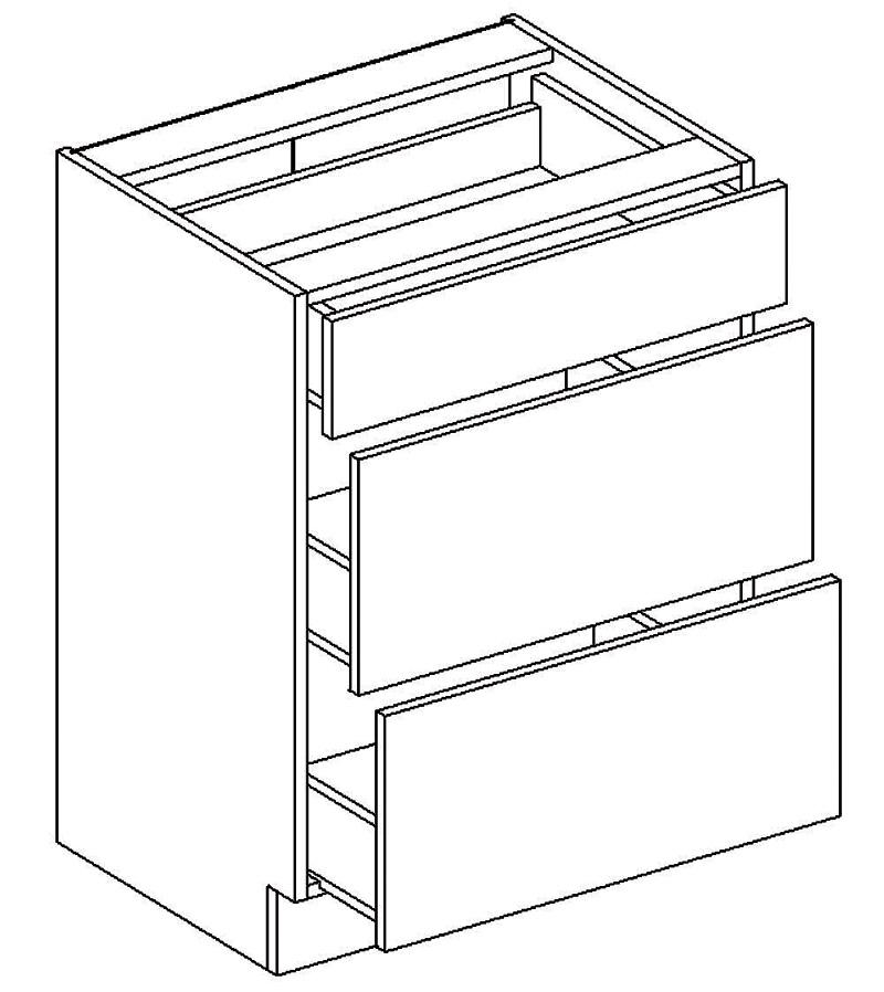 Dolná skrinka D803S s tromi zásuvkami-metabox LUCCY