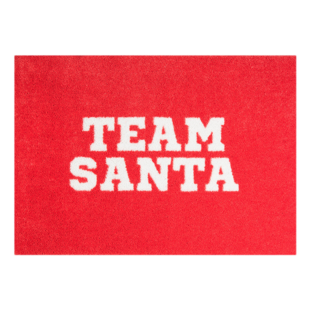Červená rohožka Mint Rugs  StateMat Team Santa, 50x75cm