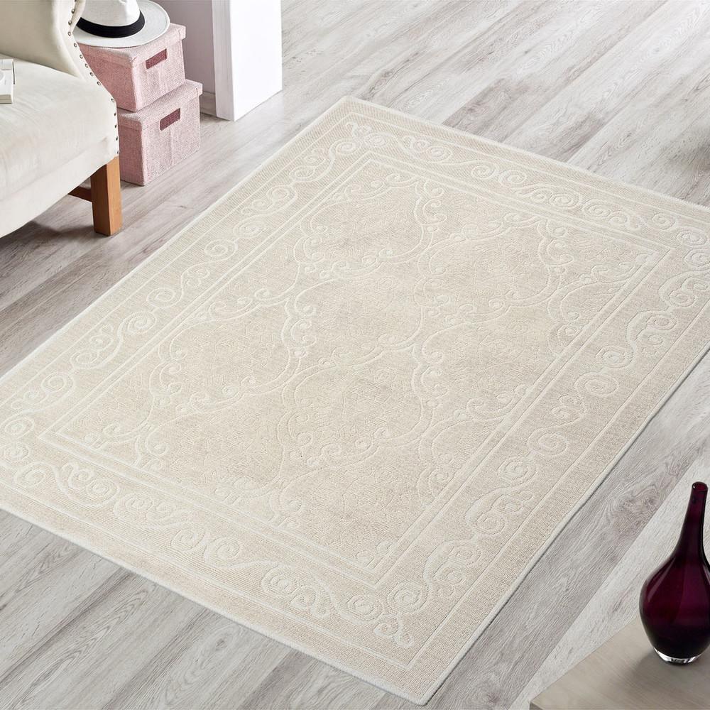 Krémový odolný koberec Vitaus Primrose, 120x180cm