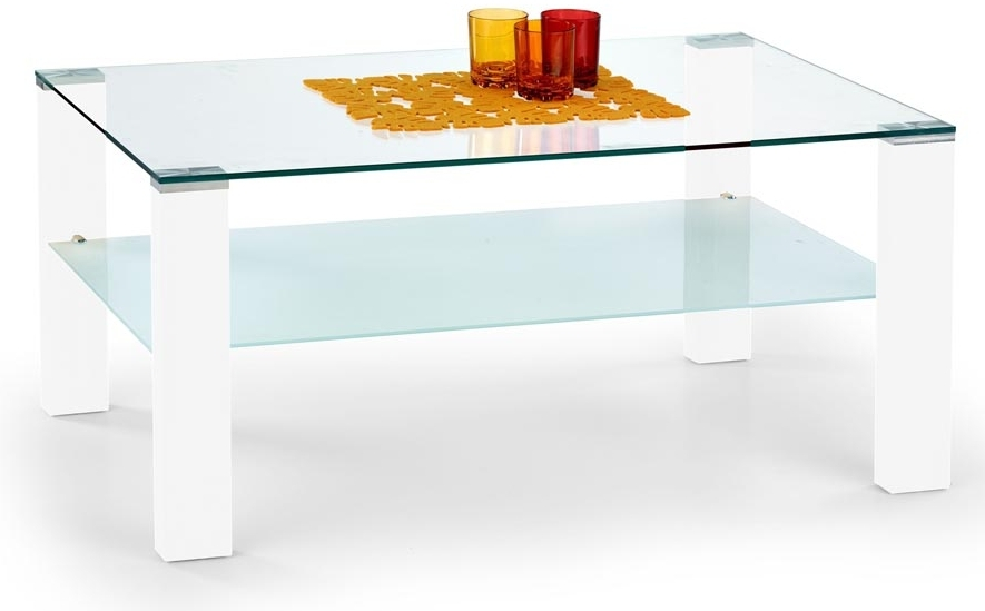 Konferenčný stolík Simple biely