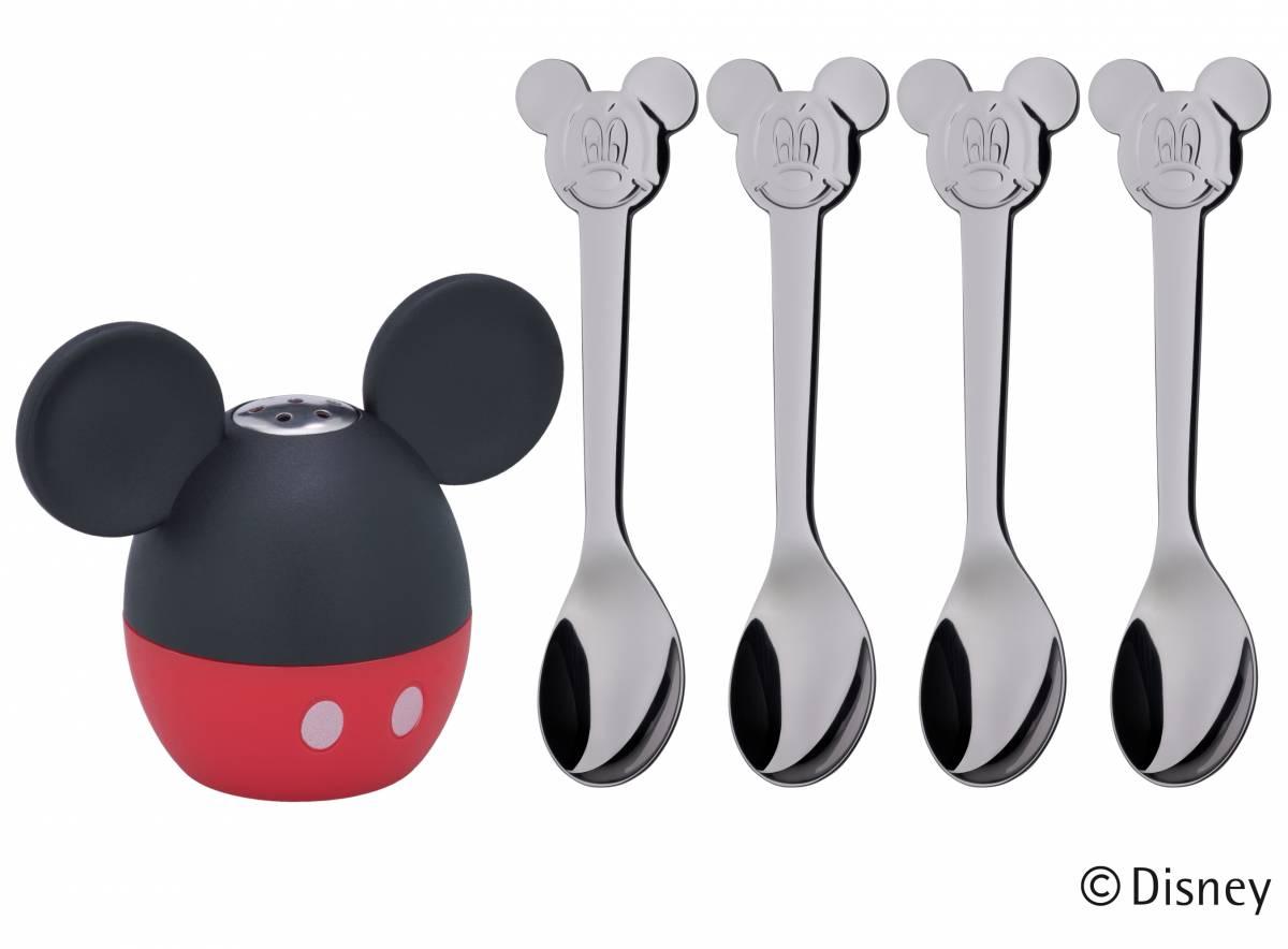 Soľnička s lyžičkami 5 ks Mickey Mouse WMF