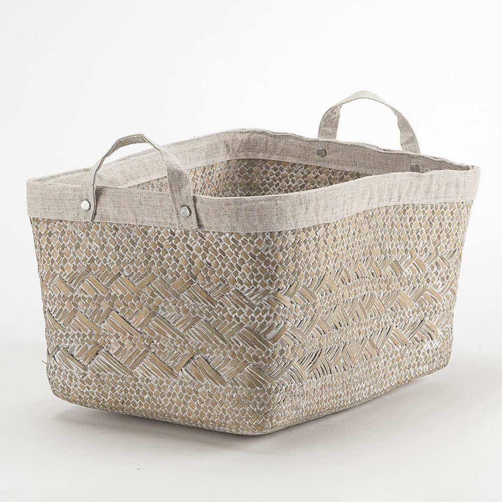 Ručne tkaný konopný košík Compactor Futuna