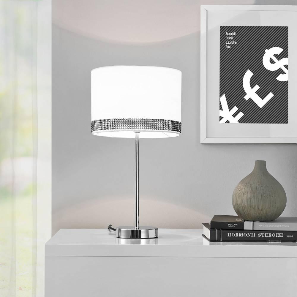 [lux.pro]® Elegantná stolová lampa – nočná lampa - Giselle / 1 x E14