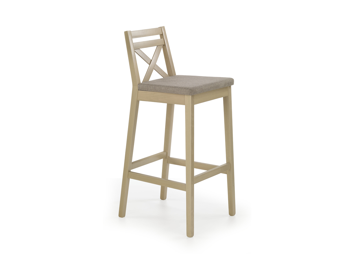 Barová stolička Borys (dub sonoma + hnedá)