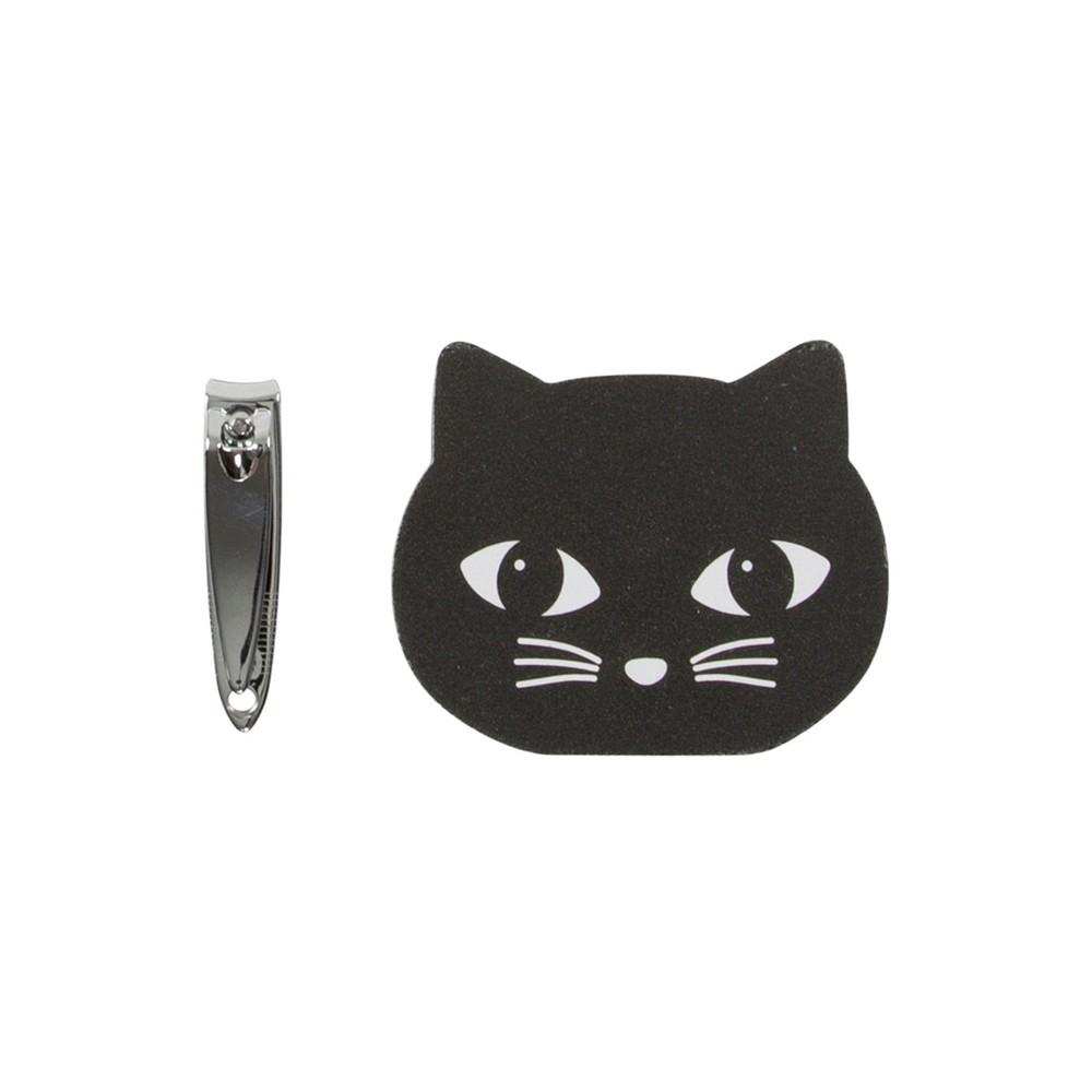 Sada pilníka a klieští na nechty Sass & Belle Black Cat