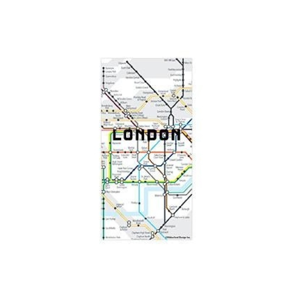 Mapa vo forme magnetov Kikkerland London