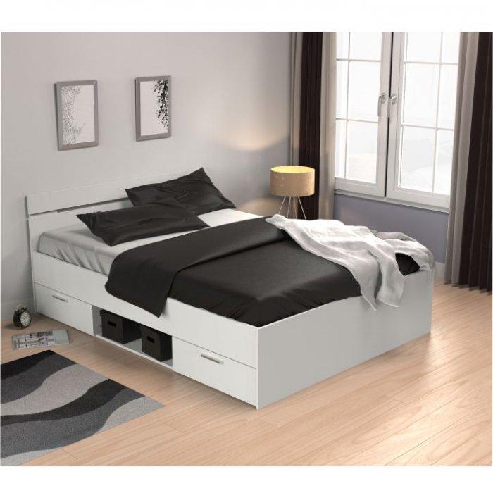 TEMPO KONDELA MICHIGAN 140 manželská posteľ - biela