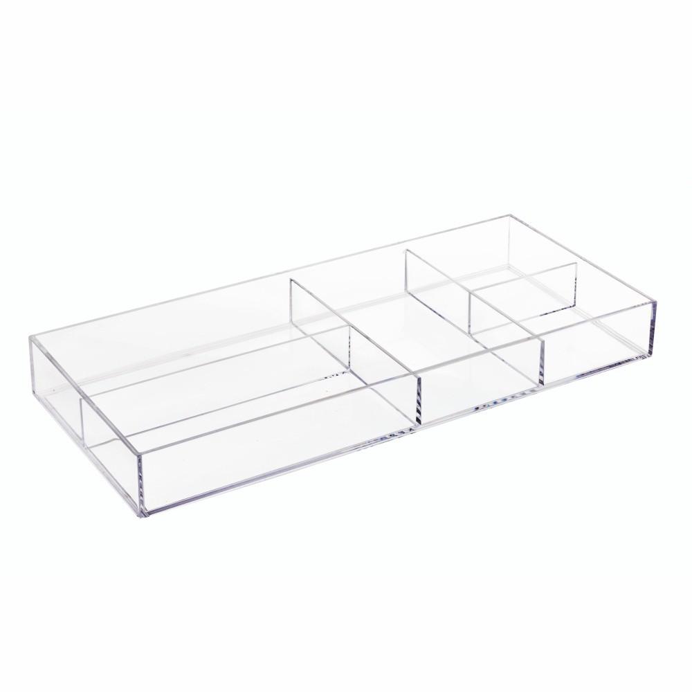 Priehľadný organizér iDesign Clarity, 40,6 × 17,8 cm