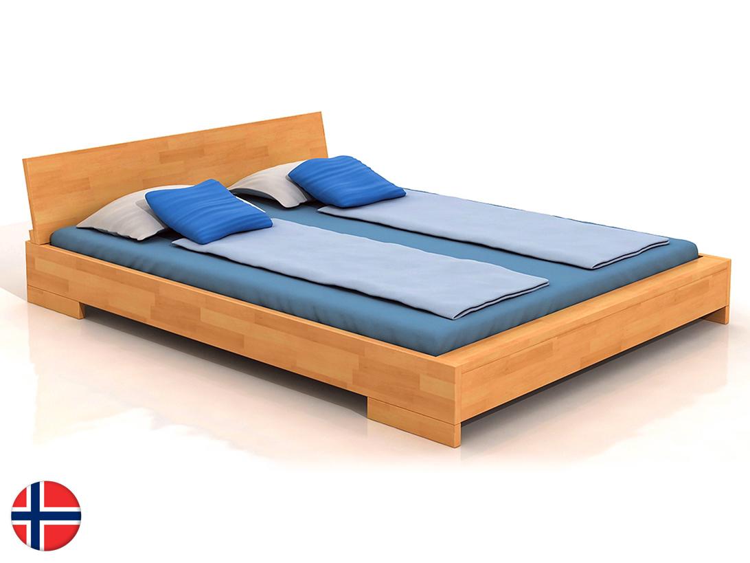 Manželská posteľ 180 cm Naturlig Lekanger (buk) (s roštom)