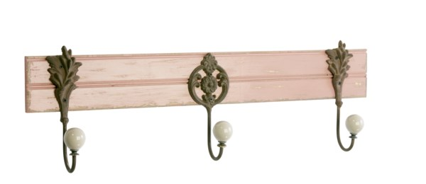 Nástenný vešiak COLLIN - antická ružová