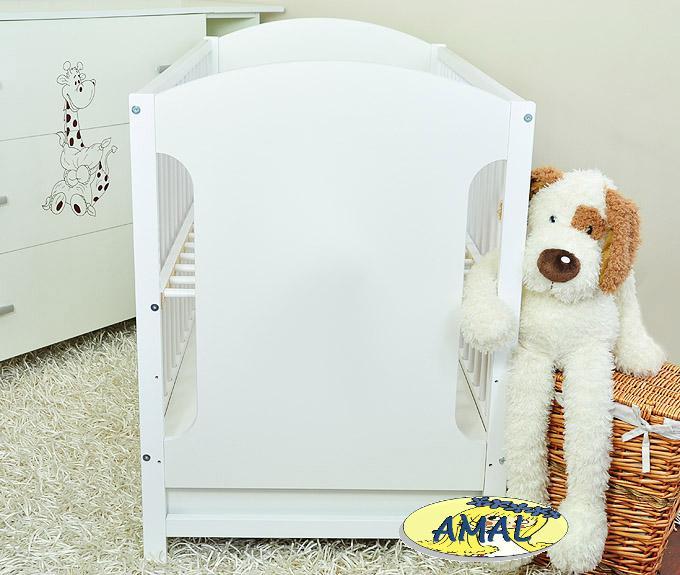 AMAL postieľka MIKI so zásuvkou, čistobiela