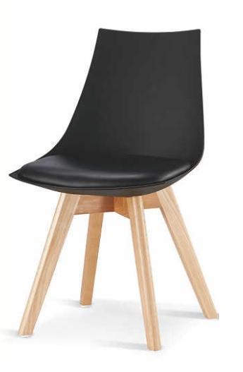 >> DELIS jedálenská stolička, čierna