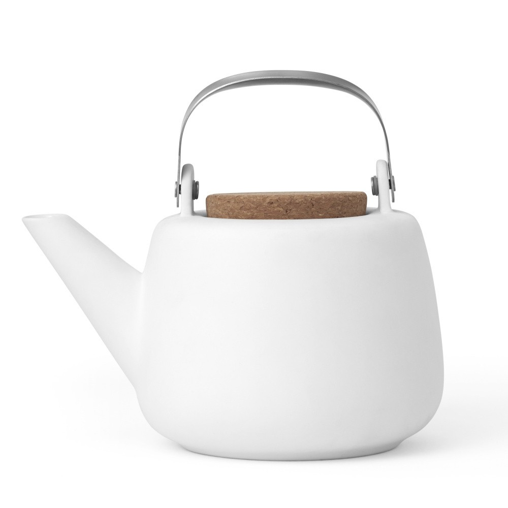 Biela čajová kanvička so sitkom a matným povrchom Viva Scandinavia Nicola, 1 l