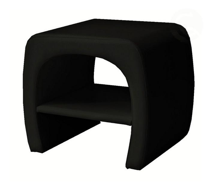 ORLEENS nočný stolík, čierny