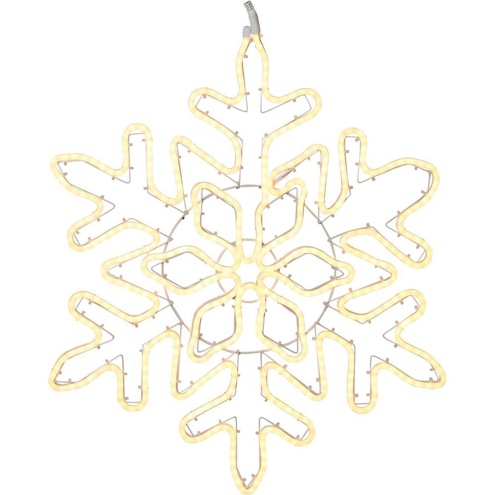 Závesná svietiaca LED dekorácia Best Season NeoLED Snowflake Gold