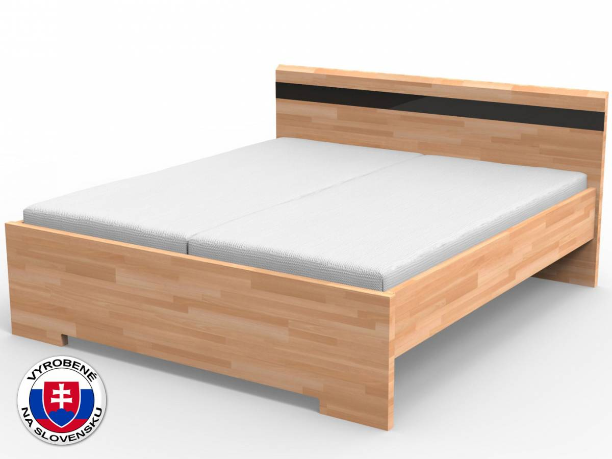 Manželská posteľ 140 cm Mona (masív)