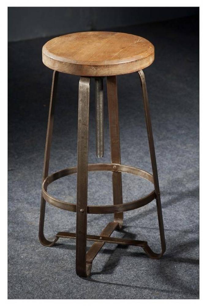 Bighome - INDUSTRY taburetka #20, liatina a staré drevo