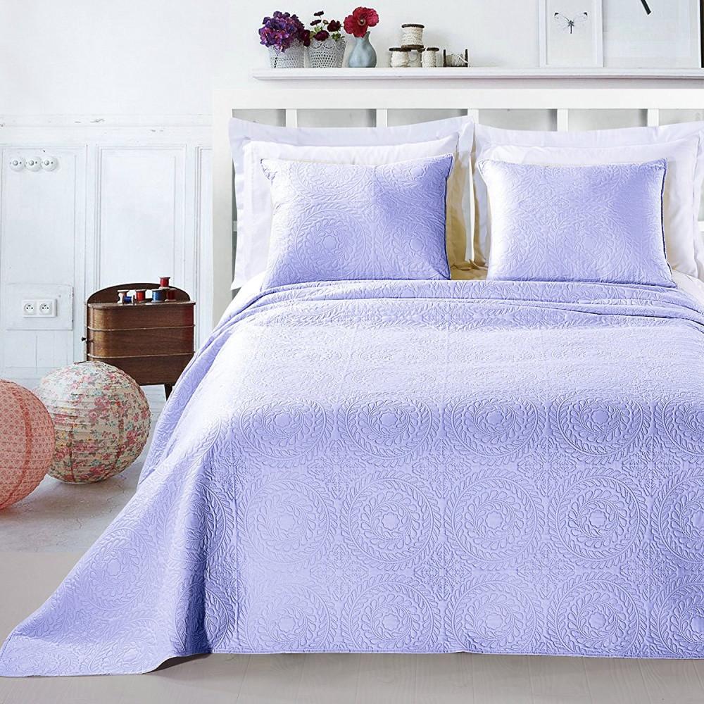 Svetlofialová posteľná sada z mikrovlákna DecoKing Elodie, 220x240cm