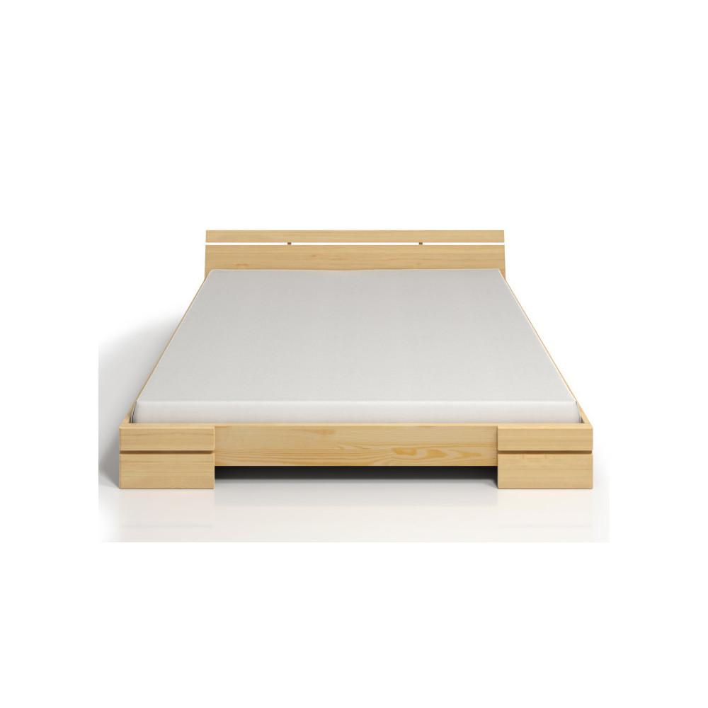 Dvojlôžková posteľ z borovicového dreva s úložným priestorom SKANDICA Sparta Maxi, 200x200cm