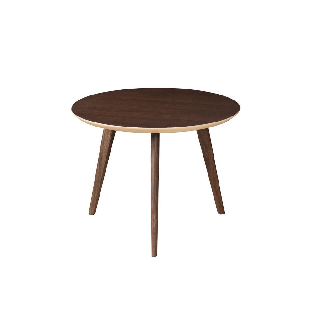 Odkladací stolík zmasívneho mangového dreva Woodjam Play Dark