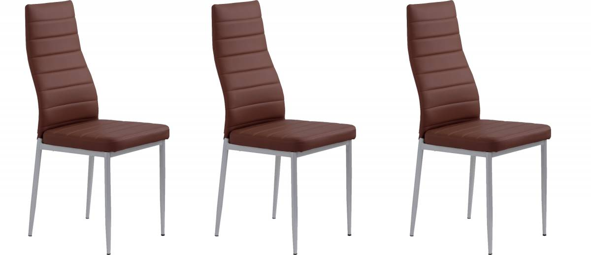 Set 3ks. jedálenských stoličiek K70 tmavohnedá *výpredaj