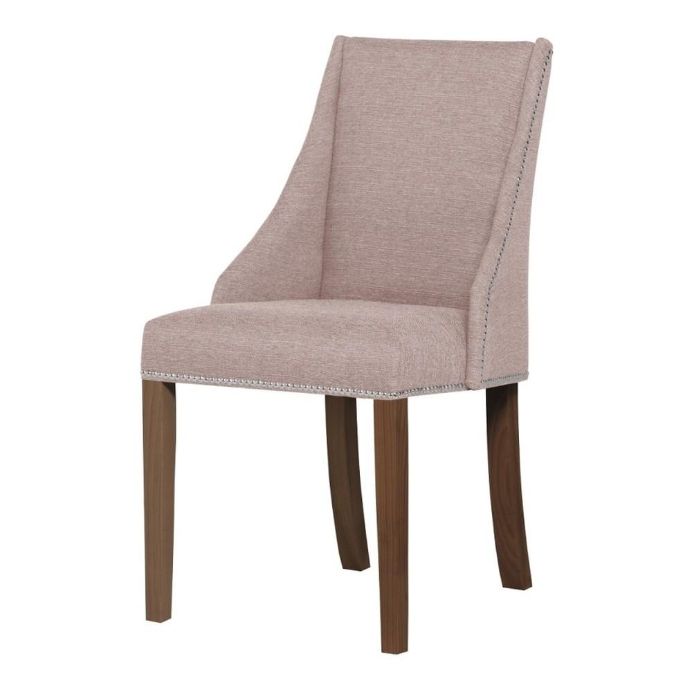 Púdrovoružová stolička s tmavohnedými nohami Ted Lapidus Maison Patchouli