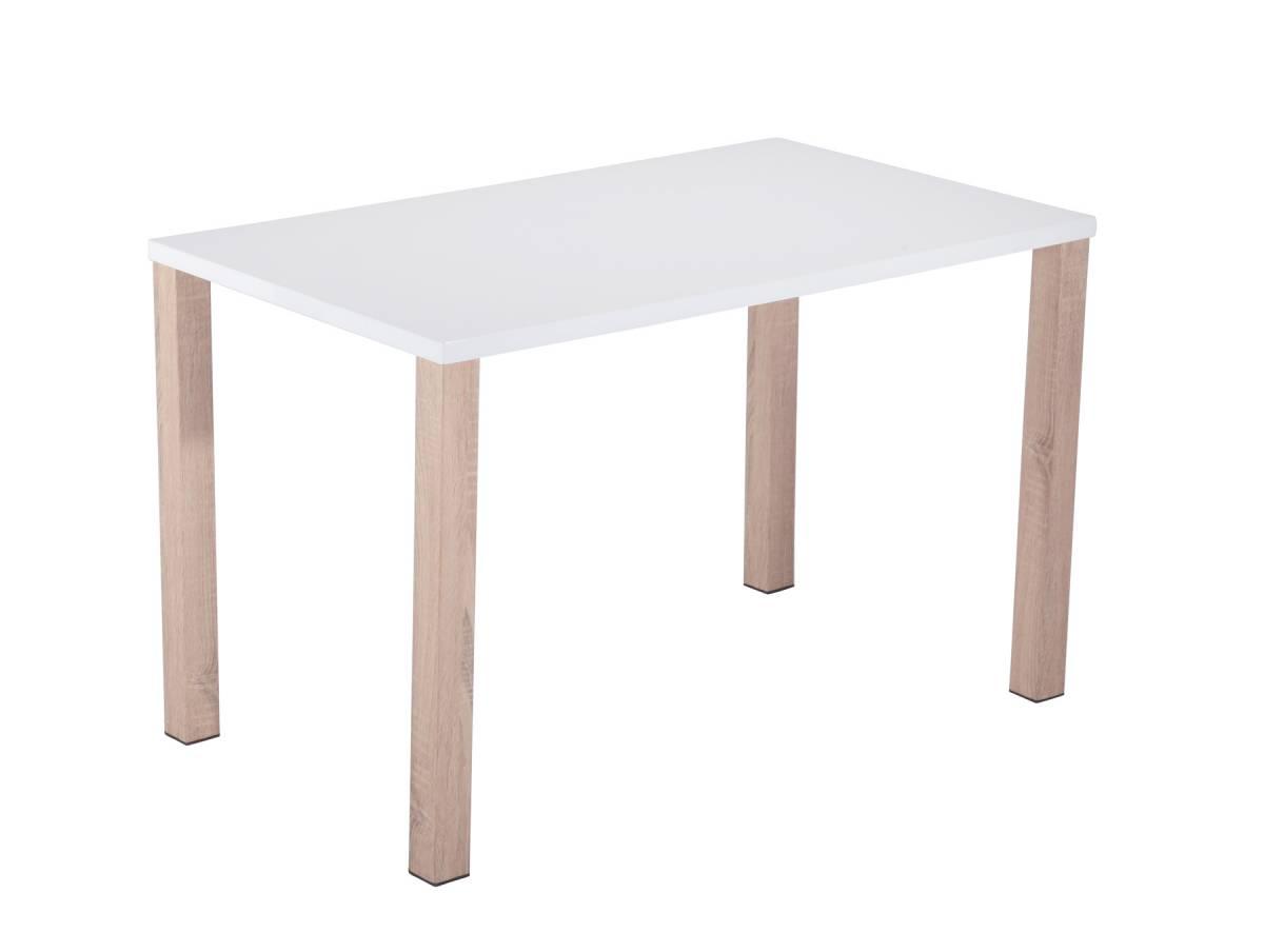 ALPINE jedálenský stôl biela+dub sonoma