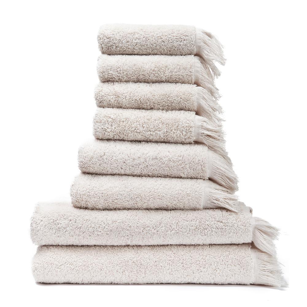 Set 8 krémových bavlnených uterákov a osušiek Casa Di Bassi Bath