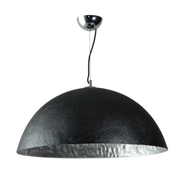 Čierno-strieborné stropné svietidlo ETH Mezzo Tondo, ⌀70cm