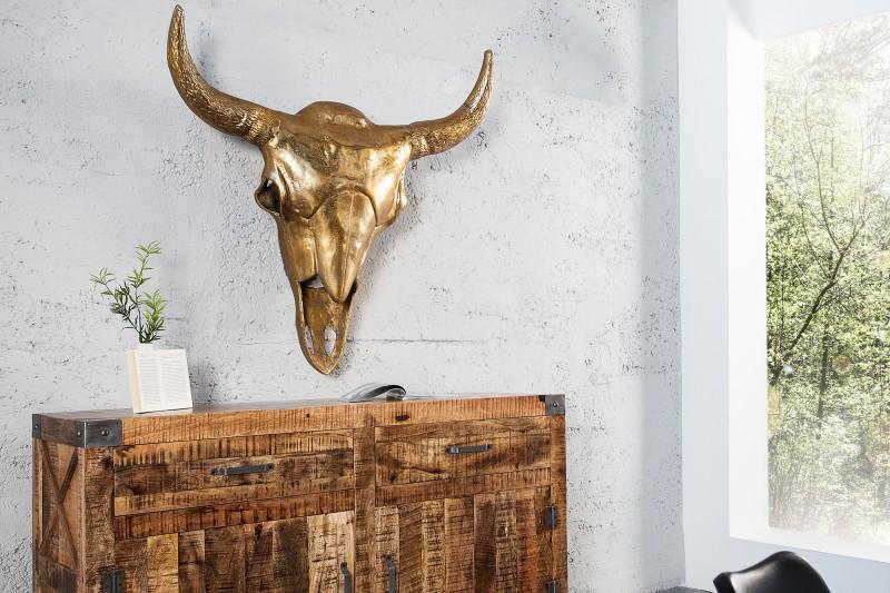 Bighome - Nástenná dekorácia MATADOR 95 cm - zlatá