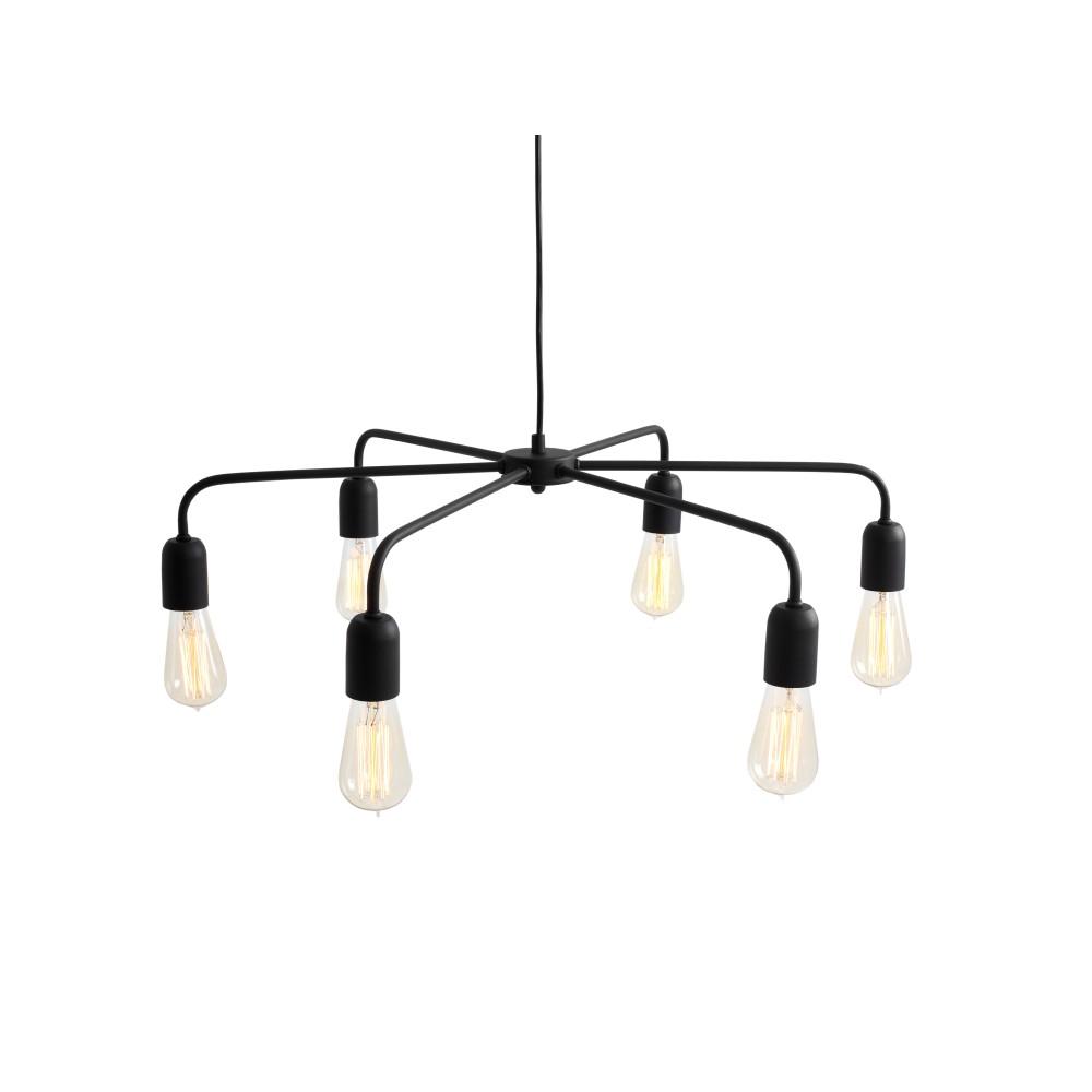 Čierne závesné svetlo Custom Form Croser