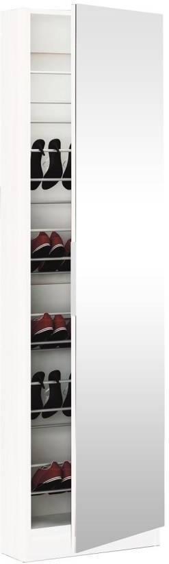 Skrinka na obuv zo zrkadlom 305397 biela