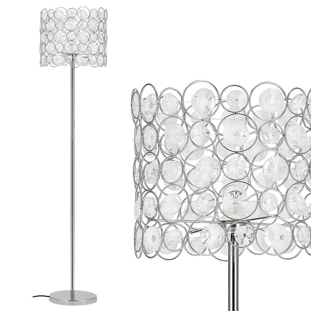 [lux.pro]® Elegantná stojaca lampa - CrystalTree 1 x E 27 - 60W - chrómová