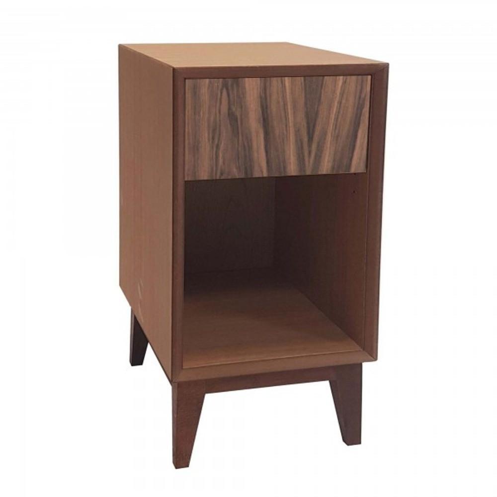 Veľký nočný stolík s hnedou zásuvkou Ragaba PIX