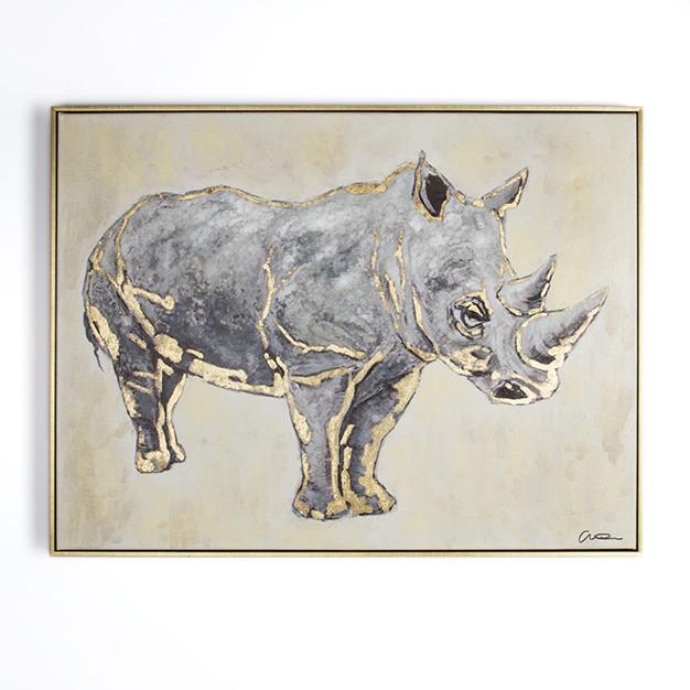 Ručne maľovaný obraz Graham & Brown Rhino, 60 x 80 cm