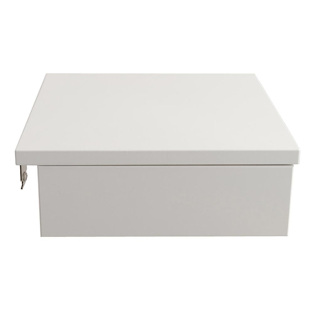Biely ručne vyrobený nočný stolík z masívneho brezového dreva Kiteen Koli