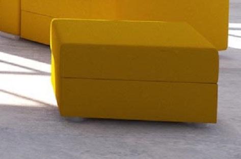 Taburetka AVARA žltá