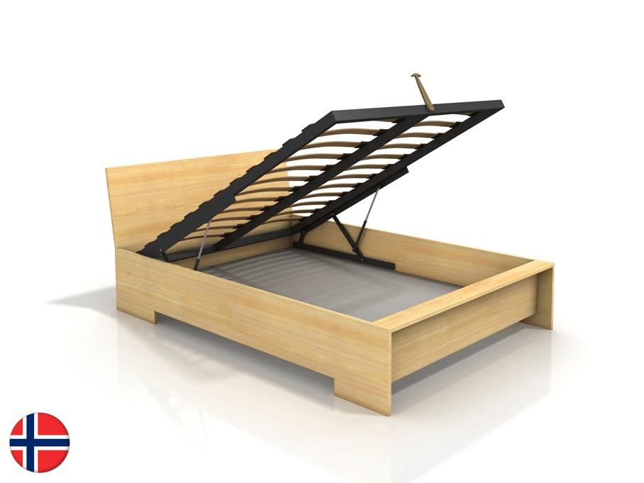 Manželská posteľ 200 cm Naturlig Lekanger High BC (borovica) (s roštom)
