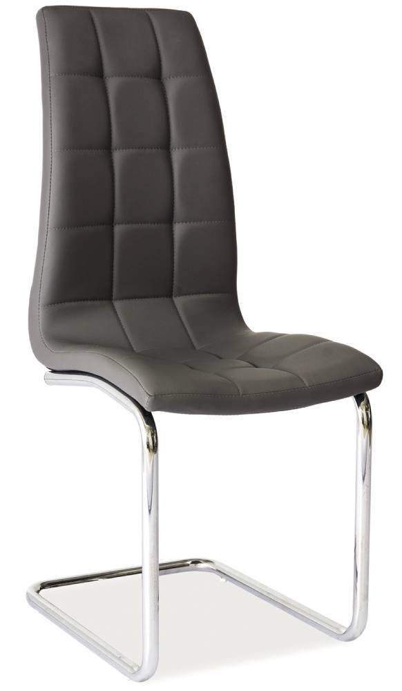 Jedálenská stolička H-103 (ekokoža sivá)