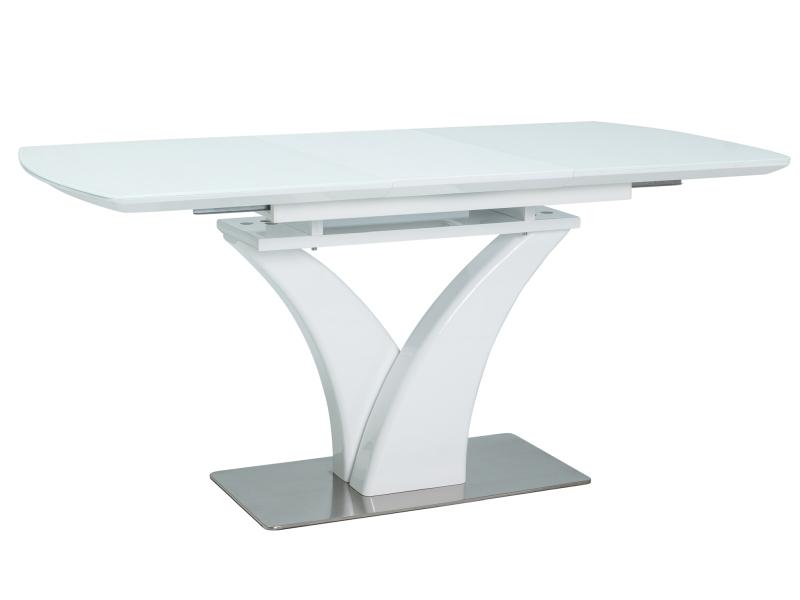 PORTUGAL jedálenský rozkladací stôl, biely lesk